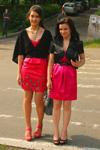 Выпускное платье (Киев). Платье цвет фуксия. Выпускное платье 2010.