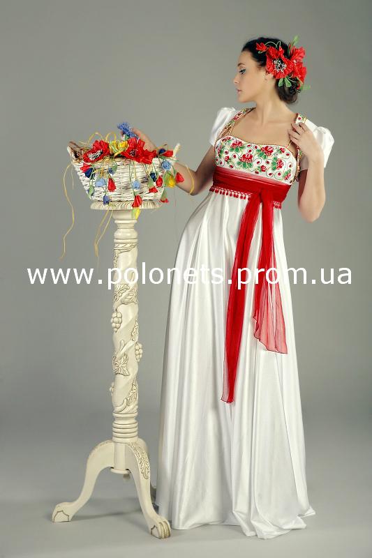 Эксклюзивные вечерние и свадебные платья в национальном стиле от Оксаны Полонец, а так-же индивидуальный пошив...