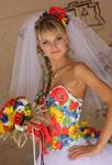 Свадебные и вечерние платья от Оксаны Полонец. Свадебные платья в украинском стиле. Повседневные платья в украинском стиле.