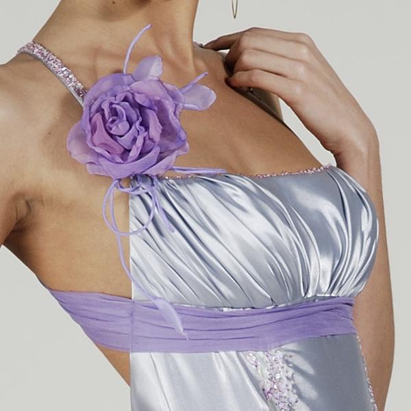 Вечернее платье драпированный лиф