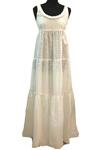 Летний сарафан в пол из белого шитья