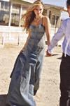 Летний  джинсовый сарафан в пол