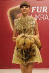 Платье с меховым лифом. Лиф платья выполнен из натурального меха. Авторское платье