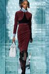 Юбка-карандаш с завышенной линией талии. Модная юбка-карандаш. Дизайнерская теплая юбка-карандаш